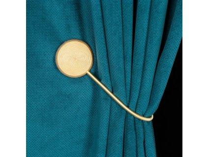 Dekorační ozdobná spona na závěsy s magnetem MODUS, zlatá, Ø 5,5 cm Mybesthome