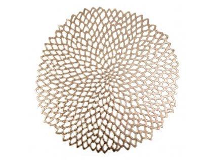 Prostírání MONICA zlatá Ø 38 cm Mybesthome