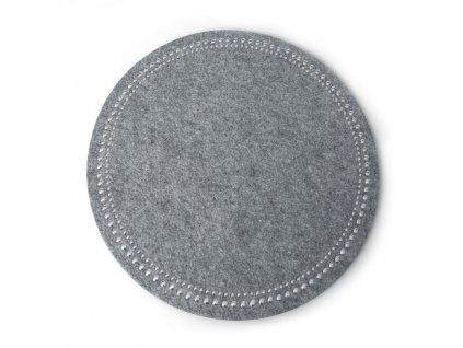Prostírání GRACIE I. šedá Ø 38 cm Mybesthome