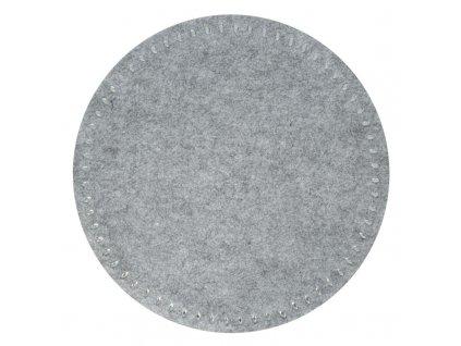 Prostírání GRACIE II. šedá Ø 38 cm Mybesthome