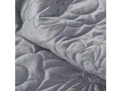 Přehoz na postel FLORISA 220x240 cm šedá Mybesthome