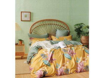 Povlečení BERGAMO 100% saténová bavlna 1x 200x220 cm, 2x povlak 70x80 cm francouzské povlečení MyBestHome