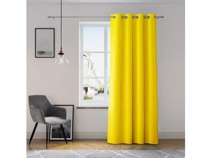 Dekorační závěs GRETA žlutá (1 kus) 1x140x250 cm MyBestHome