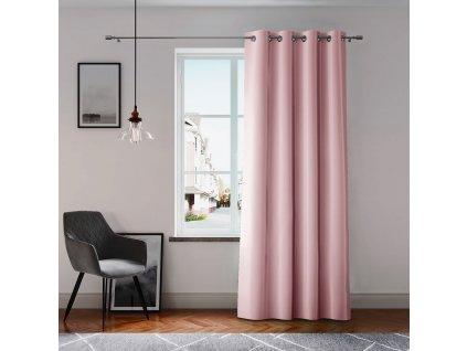 Dekorační závěs GRETA pudrová růžová (1 kus) 1x140x250 cm MyBestHome