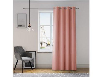 Dekorační závěs GRETA růžová (1 kus) 1x140x250 cm MyBestHome