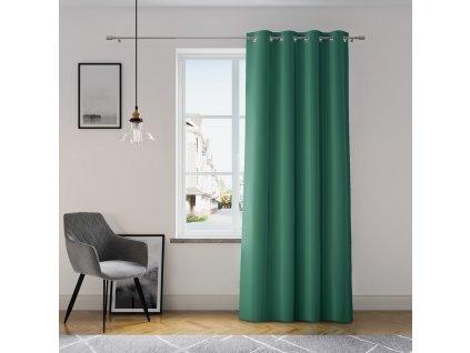 Dekorační závěs GRETA zelená (1 kus) 1x140x250 cm MyBestHome