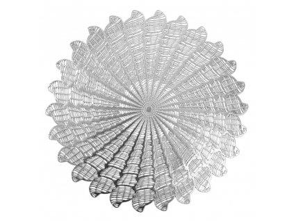 Prostírání KELLY stříbrná Ø 38 cm Mybesthome