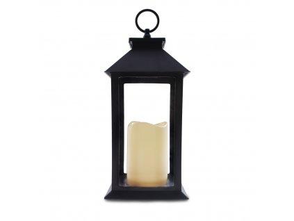 Dekorativní LUCERNA s LED svíčkou HOME GLORY 14x28 cm