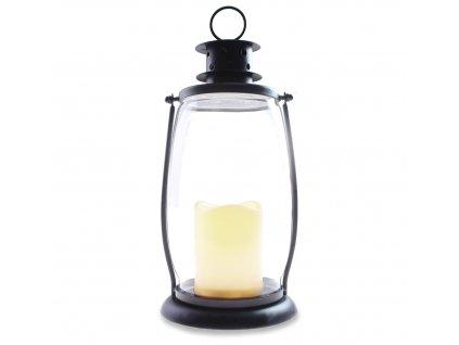 Dekorativní LUCERNA s LED svíčkou HOME II. GLORY 15,5x30 cm