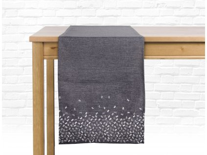 Ubrus - běhoun na stůl TENDER, 35x175 cm, tmavě šedá, ESSEX
