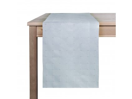 Ubrus - běhoun na stůl GREY motiv A, 35x180 cm, šedá, ESSEX