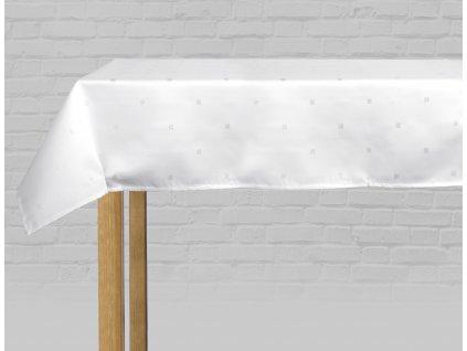 Ubrus GLOSS bílá/stříbrná 110x160, 130x180, 145x220 cm, 150x300 cm  ESSEX