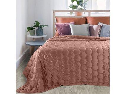 Přehoz na postel ALICE 220x240 cm růžová Mybesthome