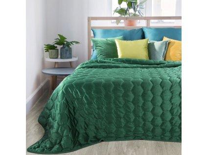 Přehoz na postel ALICE 220x240 cm zelená Mybesthome