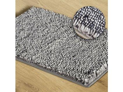 Koupelnová předložka JAKARTA, stříbrná, 50x70 cm, 60x90 cm Mybesthome