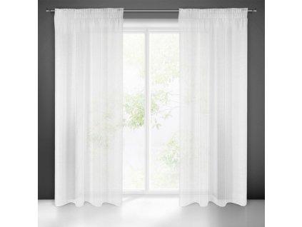 Dekorační záclona s řasící páskou se zadním tunýlkem DONNA bílá (1 kus) 140x250 cm MyBestHome