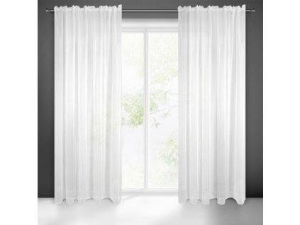 Dekorační dlouhá záclona ROMA bílá ( 1 kus) 140x270 cm MyBestHome