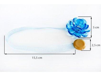 Dekorační ozdobná spona na závěsy s magnetem VALERIA 2, světle modrá, Ø 5 cm 2 kusy v balení Mybesthome