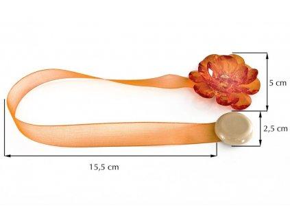Dekorační ozdobná spona na závěsy s magnetem VALERIA 2, pomerančová, Ø 5 cm 2 kusy v balení Mybesthome