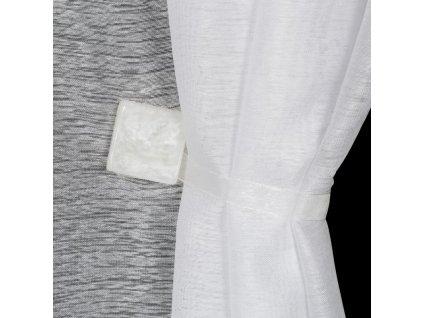 Dekorační ozdobná spona na závěsy s magnetem TAMAY bílá, 3,5x3,5 cm Mybesthome