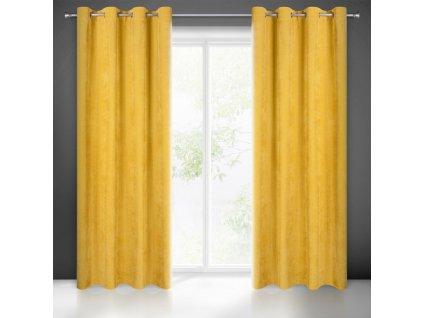 Dekorační závěs JULY mustard/hořčicová ( 1 kus ) 1x140x250 cm MyBestHome