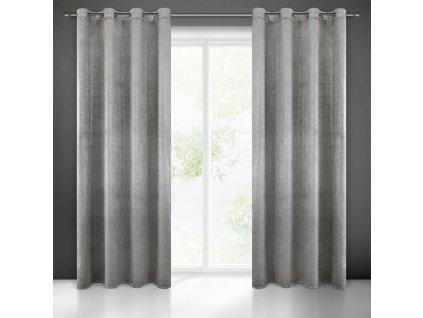 Dekorační velvet závěs SUZIE (1 kus) 140x250 cm, šedá, MyBestHome