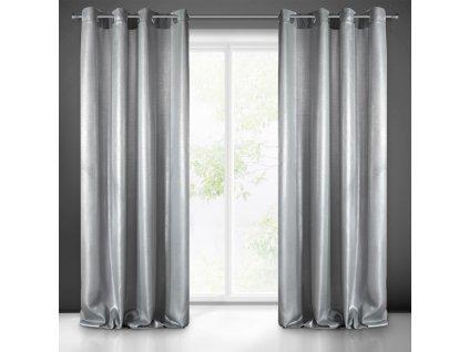 Dekorační závěs MITRA stříbrná/stříbrná (1 kus) 1x140x250 cm MyBestHome