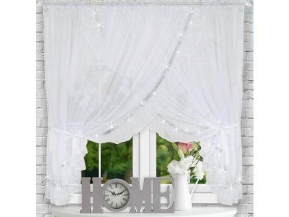 Dekorační krátká záclona se zirkony JANINA bílá 400x160 cm MyBestHome