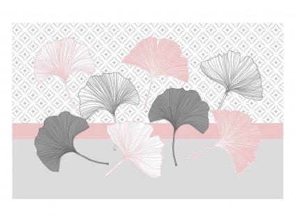 Prostírání GINKO růžová 28,5x43,5 cm Mybesthome