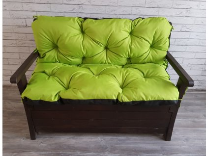 Prošívané sezení JONAS - set sedáků na zahradní lavici - barva limonka, různé rozměry, Mybesthome