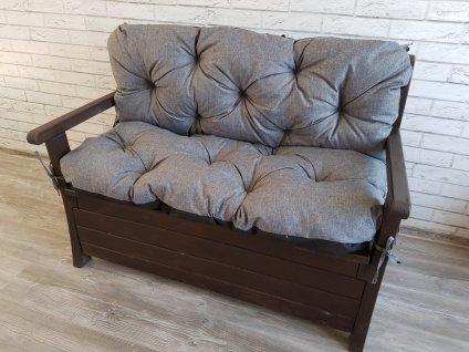 Prošívané sezení ELIAS - set sedáků na zahradní lavici - barva šedá, různé rozměry, Mybesthome