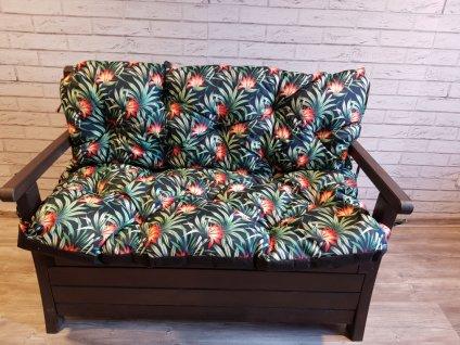 Prošívané sezení MARKUS - vzor 39 - set sedáků na zahradní lavici -  různé rozměry, Mybesthome