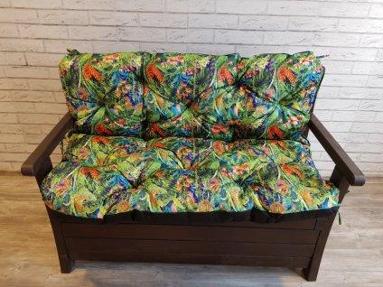 Prošívané sezení MARKUS - vzor 18 - set sedáků na zahradní lavici -  různé rozměry, Mybesthome