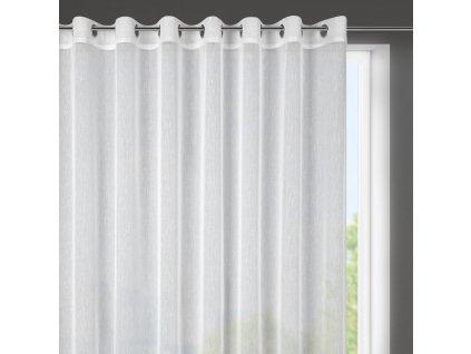 Dekorační krátká záclona s jemnou strukturou s kroužky SUZIE bílá ( 1 kus) 400x145 cm MyBestHome