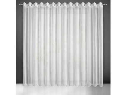 Dekorační dlouhá záclona s jemnou strukturou s kroužky SUZIE bílá ( 1 kus) 400x250 cm MyBestHome