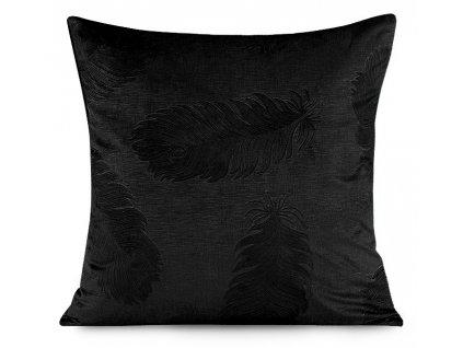 Polštář PEACOCK černá 45x45 cm Mybesthome