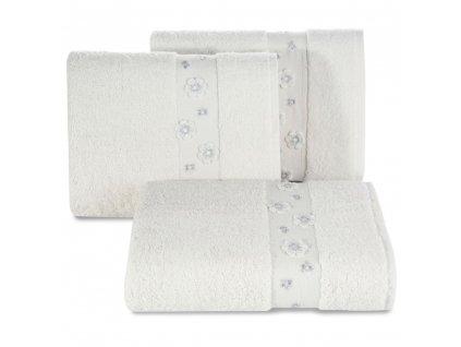 Bavlněný froté ručník s bordurou DACOTA 50x90 cm, krémová, 450 gr Mybesthome
