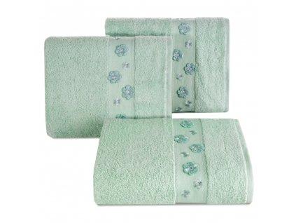 Bavlněný froté ručník s bordurou DACOTA 50x90 cm, mátová, 450 gr Mybesthome