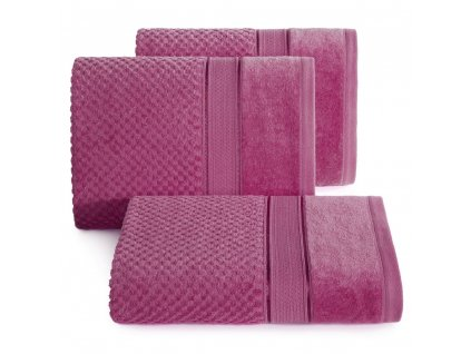 Bavlněný froté ručník s proužky JESSICA 50x90 cm, růžová, 500 gr Mybesthome