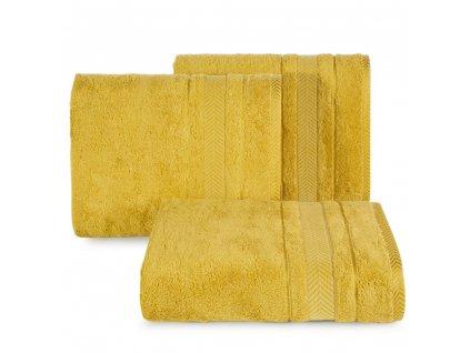 Osuška RONDA BAMBOO 550 gr 70x140 cm, mustard/hořčicová, Mybesthome