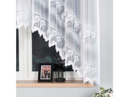 Dekorační oblouková krátká záclona ADELINA 310 bílá 310x160 cm MyBestHome