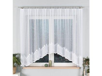 Dekorační oblouková krátká záclona KAMELIA bílá 310x160 cm MyBestHome