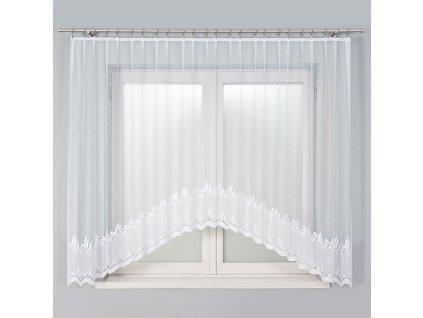 Dekorační oblouková krátká záclona KAMELIA 310 bílá 310x160 cm MyBestHome