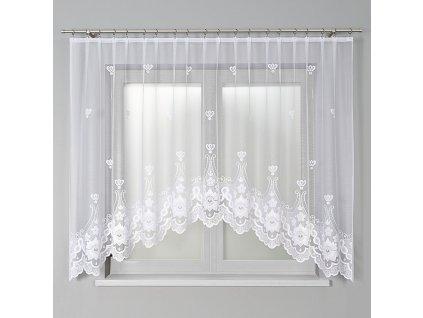 Dekorační oblouková krátká záclona MATYLDA 310 bílá 310x160 cm MyBestHome