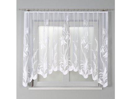 Dekorační oblouková krátká záclona ANETA 310 bílá 310x160 cm MyBestHome
