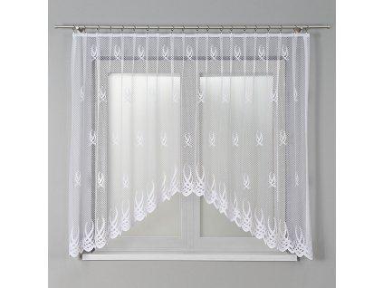Dekorační oblouková krátká záclona GOSIA 300 bílá 300x160 cm MyBestHome