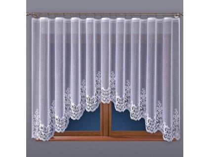 Dekorační oblouková krátká záclona BERENIKA 300 bílá 300x160 cm MyBestHome