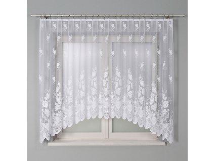 Dekorační oblouková krátká záclona EDYTA 300 bílá 300x160 cm MyBestHome