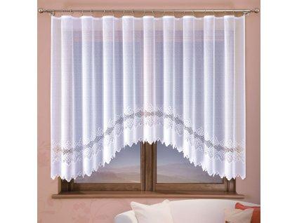 Dekorační oblouková krátká záclona MODESTA 300 bílá 300x160 cm MyBestHome