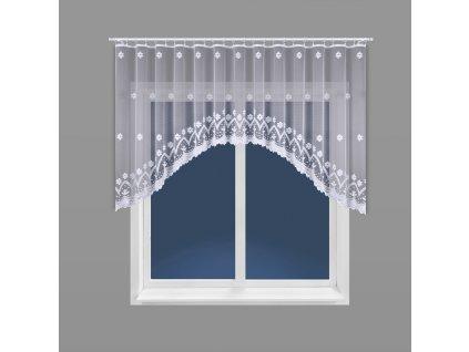 Dekorační oblouková krátká záclona FLORENTYNA 120 bílá 330x120 cm MyBestHome